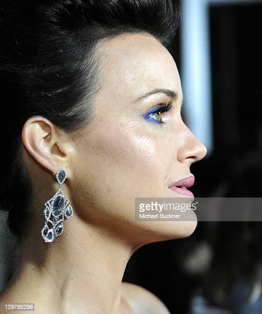 Actress Carla Gugino arrives at the premiere of The Mighty Macs at the Arclight Theatres on October 20 2011 in Los Angeles California