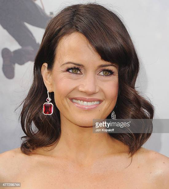 Actress Carla Gugino arrives at the Premiere Of Warner Bros Pictures' San Andreas at TCL Chinese Theatre on May 26 2015 in Hollywood California