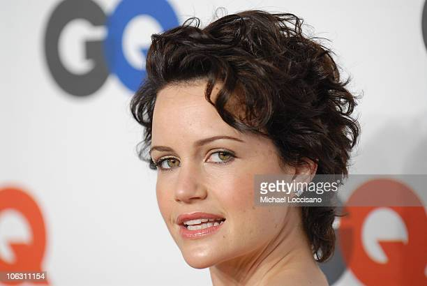 Actress Carla Gugino arrives to GQ's 50th Anniversary Celebration at Cedar Lake in New York City on September 18, 2007.
