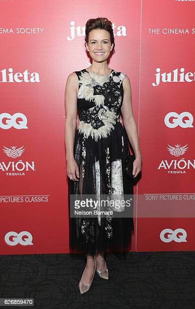 Actress Carla Gugino attends a screening of Sony Pictures Classics' 'Julieta' hosted by The Cinema Society Avion and GQ at Landmark Sunshine Cinema...