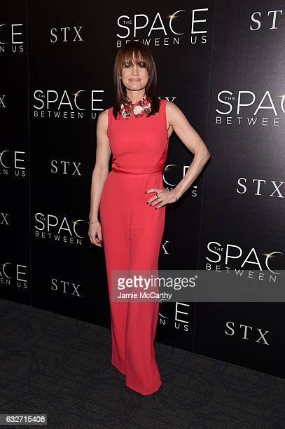Actress Carla Gugino attends a screening of The Space Between Us hosted by The Cinema Society at Landmark Sunshine Cinema on January 25 2017 in New...
