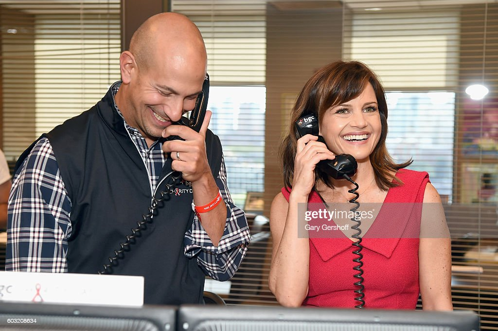 Actress Carla Gugino (R) attends Annual Charity Day hosted by Cantor Fitzgerald, BGC and GFI at BGC Partners, INC on September 12, 2016 in New York City.