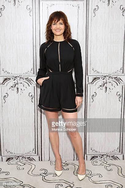 Actress Carla Gugino attends AOL Build Presents Carla Gugino Discussing Her New Showtime Comedy 'Roadies' at AOL HQ on August 23 2016 in New York City