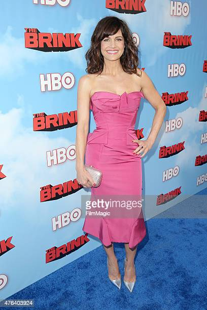 Actress Carla Gugino attends HBO's 'The Brink' Los Angeles Premiere at Paramount Theater on the Paramount Studios lot on June 8 2015 in Hollywood...