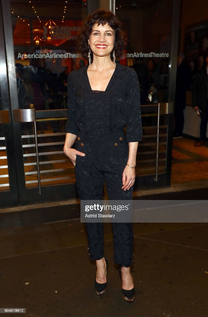 Actress Carla Gugino attends opening night of 'John Lithgow: Stories By Heart' at American Airlines Theatre on January 11, 2018 in New York City.