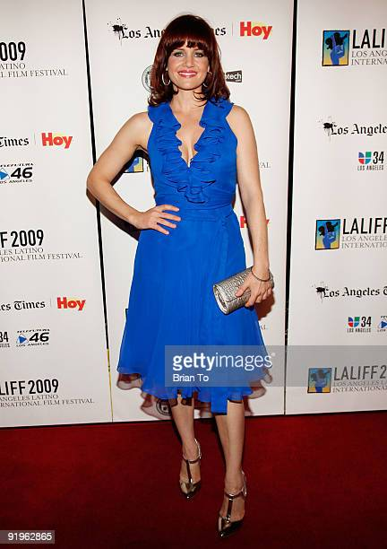Actress Carla Gugino attends the 13th Annual Los Angeles Latino International Film Festival Closing Night at Paramount Theater on the Paramount...