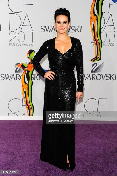 Actress Carla Gugino attends the 2011 CFDA Fashion Awards at Alice Tully Hall Lincoln Center on June 6 2011 in New York City