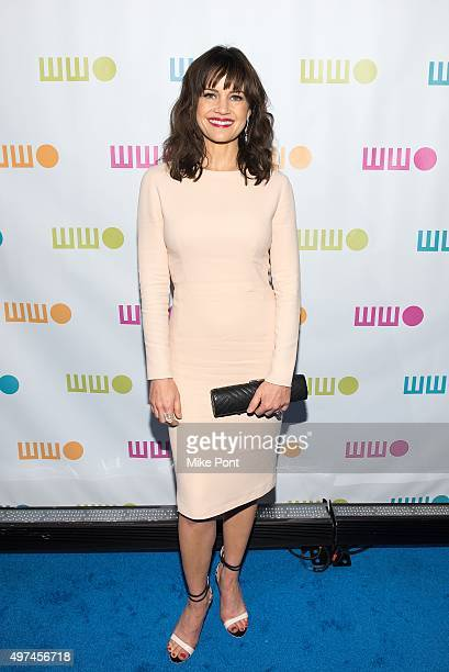 Actress Carla Gugino attends the 2015 Worldwide Orphan Gala at Cipriani Wall Street on November 16 2015 in New York City