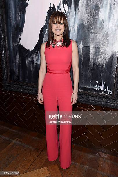 Actress Carla Gugino attends the After Party for A Screening of 'The Space Between Us' hosted by the Cinema Society at The Jimmy at the James Hotel...