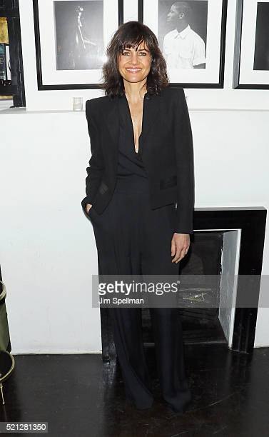 Actress Carla Gugino attends The Cinema Society and Hugo Boss host the premiere of IFC Films' 'Sky' after party at Omar's on April 14 2016 in New...