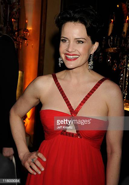 Actress Carla Gugino attends the HBO after party for the 14th Annual Screen Actor's Guild Awards at the Shrine Auditorium on January 27 2008 in Los...
