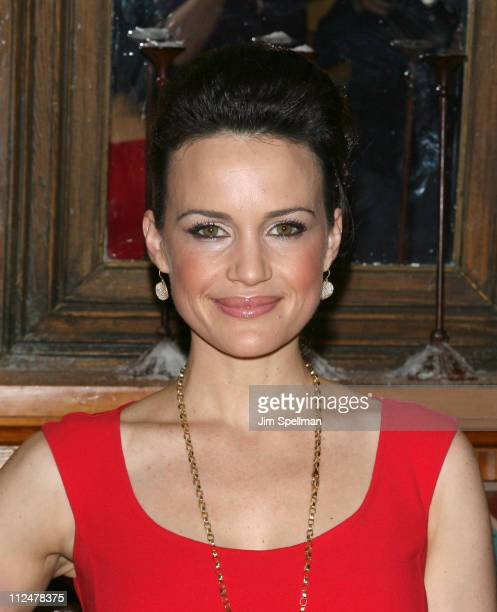 "Actress Carla Gugino attends the opening night party for ""Desire Under The Elms"" on Broadway at the Redeye Grill on April 27, 2009 in New York City."