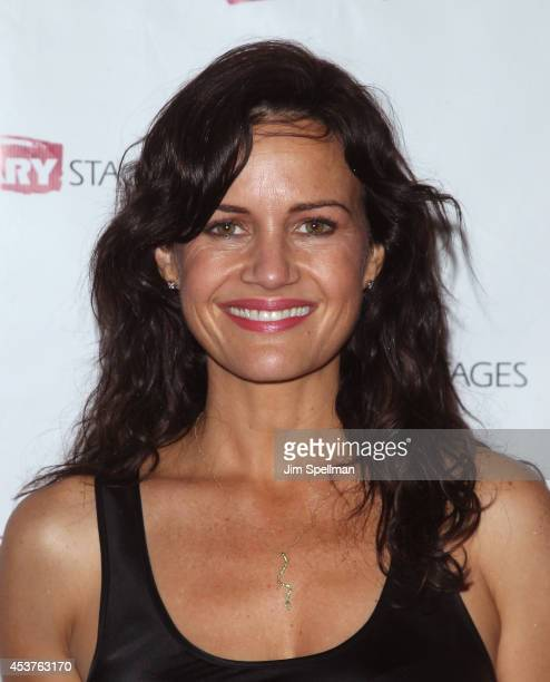 """Actress Carla Gugino attends the """"Poor Behavior"""" Opening Night after party at Casa Nonna on August 17, 2014 in New York City."""