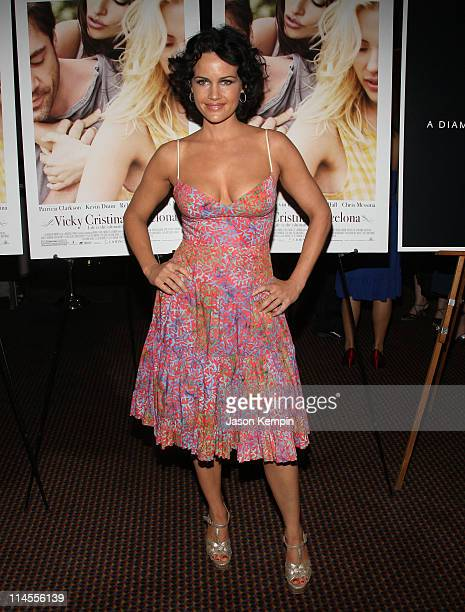 Actress Carla Gugino attends the premiere of Vicky Cristina Barcelona at Cinema 2 on August 6 2008 in New York City