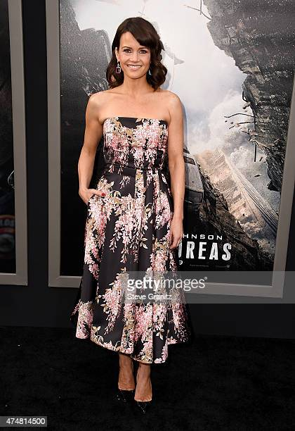 Actress Carla Gugino attends the 'San Andreas' Los Angeles Premiere at TCL Chinese Theatre IMAX on May 26 2015 in Hollywood California