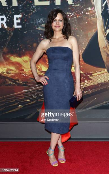 Actress Carla Gugino attends the Skyscraper New York premiere at AMC Loews Lincoln Square on July 10 2018 in New York City