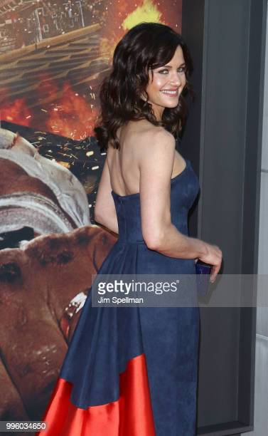 "Actress Carla Gugino attends the ""Skyscraper"" New York premiere at AMC Loews Lincoln Square on July 10, 2018 in New York City."