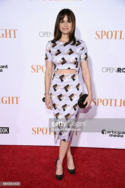 Actress Carla Gugino attends the 'Spotlight' New York premiere at Ziegfeld Theater on October 27 2015 in New York City
