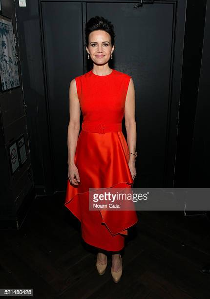 Actress Carla Gugino attends the 'Wolves' after party during 2016 Tribeca Film Festival at No 8 on April 15 2016 in New York City