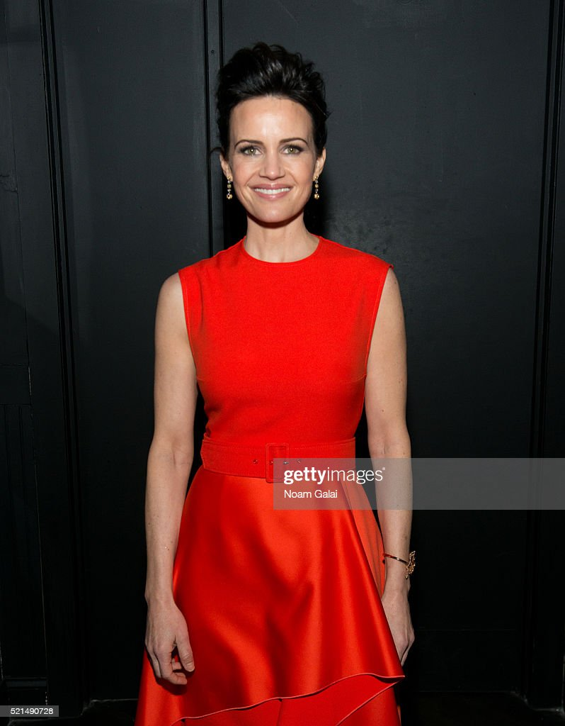 Actress Carla Gugino attends the 'Wolves' after party during 2016 Tribeca Film Festival at No. 8 on April 15, 2016 in New York City.