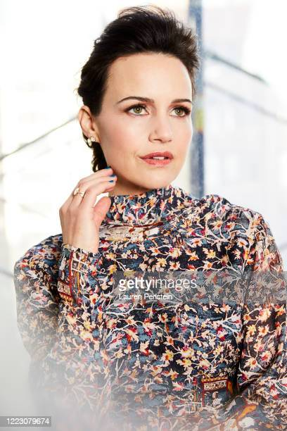 Actress Carla Gugino is photographed for Bustle.com on October 31, 2018 in New York City. PUBLISHED IMAGE.
