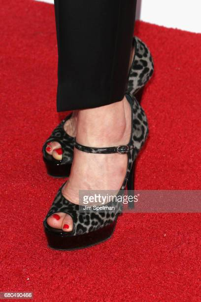 Actress Carla Gugino shoe detail attends the 44th Chaplin Award Gala at David H Koch Theater at Lincoln Center on May 8 2017 in New York City