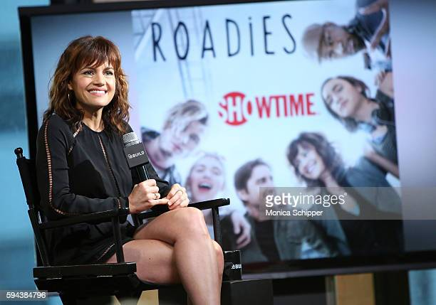 Actress Carla Gugino speaks at AOL Build Presents Carla Gugino Discussing Her New Showtime Comedy Roadies at AOL HQ on August 23 2016 in New York City