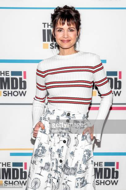 Actress Carla Gugino visits 'The IMDb Show' on May 22, 2019 in Studio City, California. This episode of 'The IMDb Show' airs on June 13, 2019.