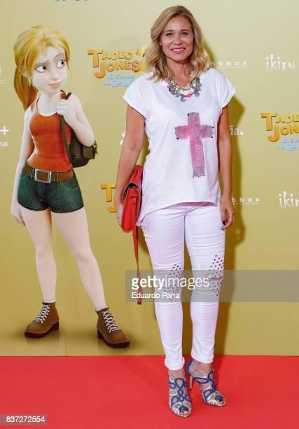 Actress Carla Hidalgo attends the 'Tadeo Jones 2 El secreto del Rey Midas' premiere at Kinepolis cinema on August 22 2017 in Madrid Spain