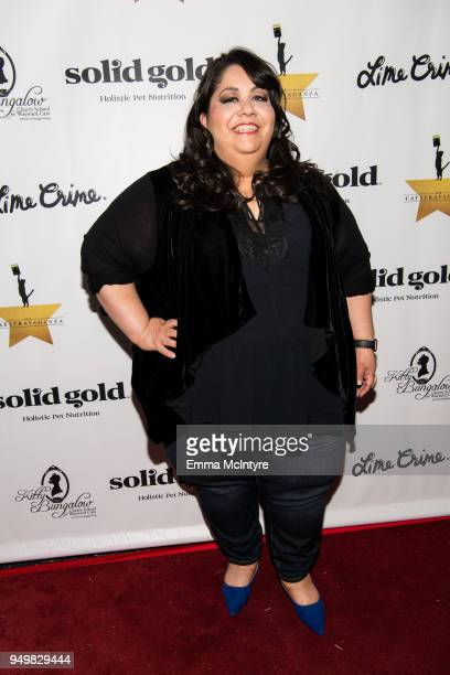 Actress Carla Jiminez attends 'CATstravaganza featuring Hamilton's Cats' on April 21, 2018 in Hollywood, California.