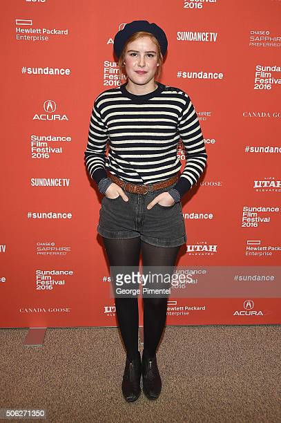 Actress Carla Juri attends the 'Morris From America' Premiere during the 2016 Sundance Film Festival at Eccles Center Theatre on January 22 2016 in...