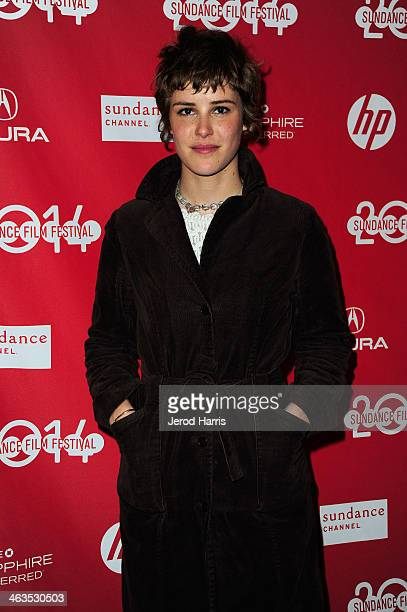 Actress Carla Juri attends the premiere of 'Wetlands' at at the Temple Theater during the 2014 Sundance Film Festival on January 18 2014 in Park City...