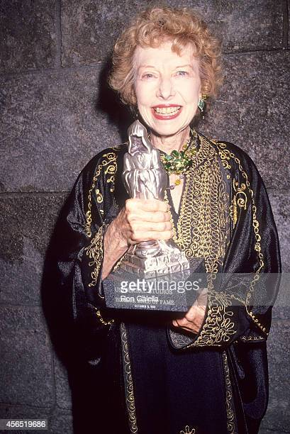 Actress Carla Laemmle attends the Second Annual Horror Hall of Fame Induction Ceremony on October 5 1991 at Universal Studios in Universal City...