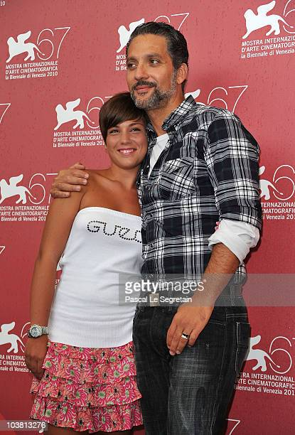 Actress Carla Marchese and actor Giuseppe Fiorello attend the Niente Orchidee and I Baci Mai Dati photocall during the 67th Venice Film Festival at...