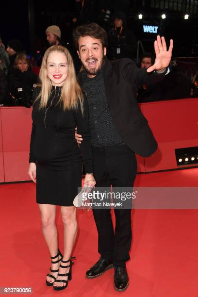 Actress Carla Nieto and her partner actor Leonardo Ortizgris attend the closing ceremony during the 68th Berlinale International Film Festival Berlin...
