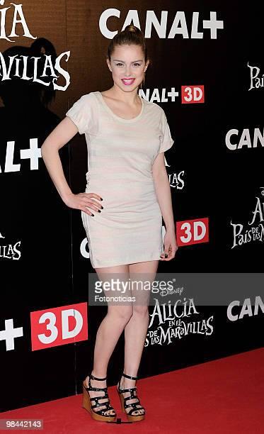 Actress Carla Nieto attends 'Alicia en el Pais de las Maravillas' premiere at Proyecciones Cinema on April 13 2010 in Madrid Spain