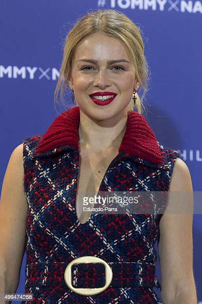 Actress Carla Nieto attends Tommy Hilfiger event at the Cibeles Palace on December 1 2015 in Madrid Spain