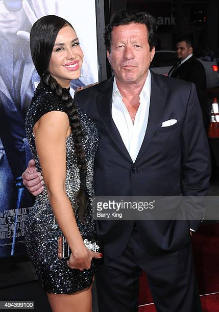 Actress Carla Ortiz and actor Joaquim De Almeida arrive at the premiere of Warner Bros Pictures' 'Our Brand Is Crisis' at TCL Chinese Theatre on...