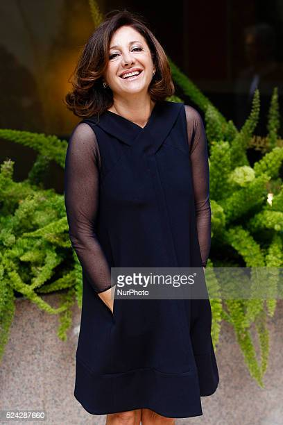actress Carla Signorinis attends Fasten your Seatbelts photocall in Rome Visconti Palace