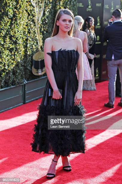 Actress Carla Woodcock attends the 45th Annual Daytime Creative Arts Emmy Awards Arrivals at Pasadena Civic Auditorium on April 27 2018 in Pasadena...
