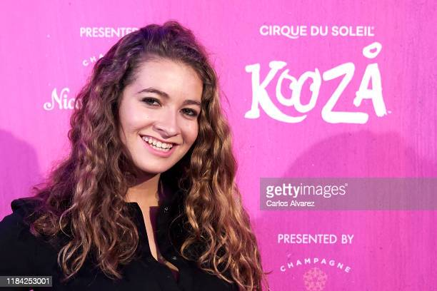 Actress Carlota Boza attends Cirque Du Soleil 'Kooza' premiere on October 29, 2019 in Madrid, Spain.