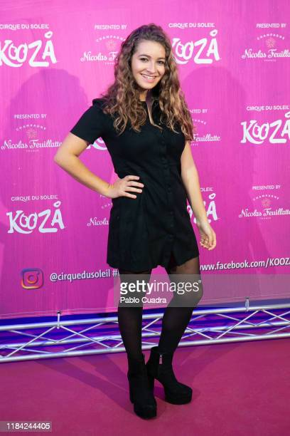 Actress Carlota Boza attends the Cirque Du Soleil 'Kooza' premiere on October 29 2019 in Madrid Spain
