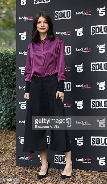 Actress Carlotta Antonelli attends a photocall for 'Solo' tv serie at Villa Borghese on November 4 2016 in Rome Italy