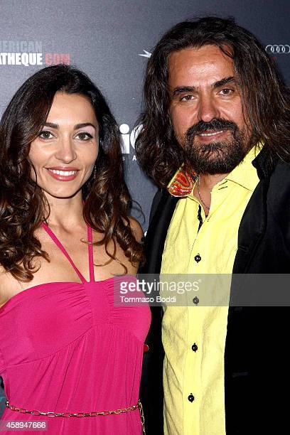 Actress Carlotta Montanari and director Fatmir Doga attend the American Cinematheque Film Series Cinema Italian Style opening night gala held at the...