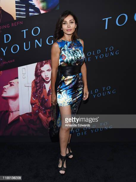 Actress Carlotta Montanari arrives at the LA Special Screening of Amazon's Too Old To Die Young at the Vista Theatre on June 10 2019 in Los Angeles...
