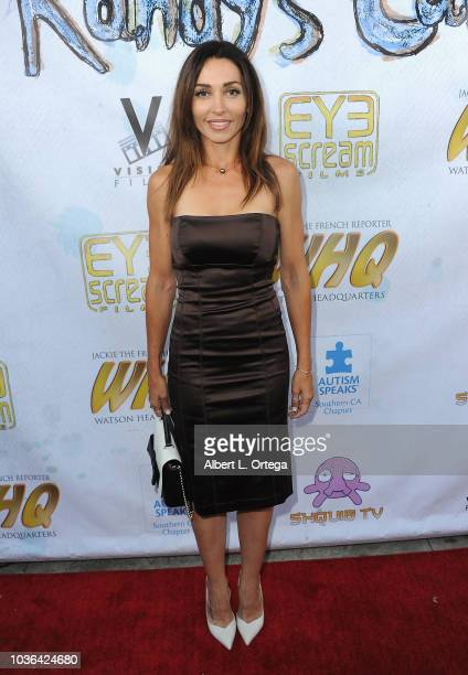 Actress Carlotta Montanari arrives for WHQ Vision Films Shquib TV And Eye Scream Films' Release Of Randy's Canvasheld at Laemmle Music Hall on...