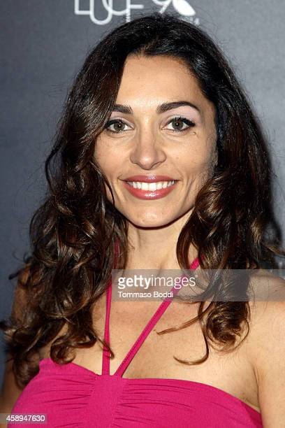 Actress Carlotta Montanari attends the American Cinematheque Film Series Cinema Italian Style opening night gala held at the Egyptian Theatre on...