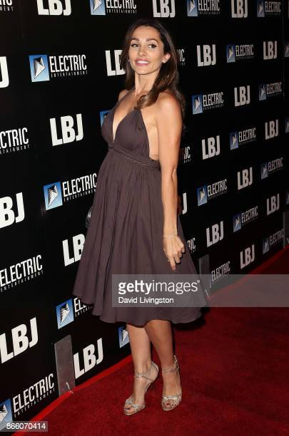 Actress Carlotta Montanari attends the premiere of Electric Entertainment's LBJ at ArcLight Hollywood on October 24 2017 in Hollywood California
