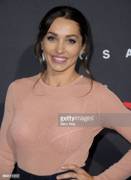 Actress Carlotta Montanari attends the premiere of Lionsgate's' 'Jigsaw' at ArcLight Hollywood on October 25 2017 in Hollywood California