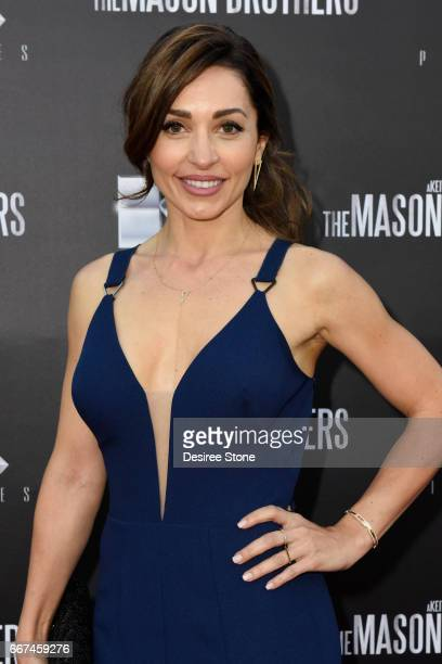 """Actress Carlotta Montanari attends the premiere of """"The Mason Brothers"""" at the Egyptian Theatre on April 11, 2017 in Hollywood, California."""